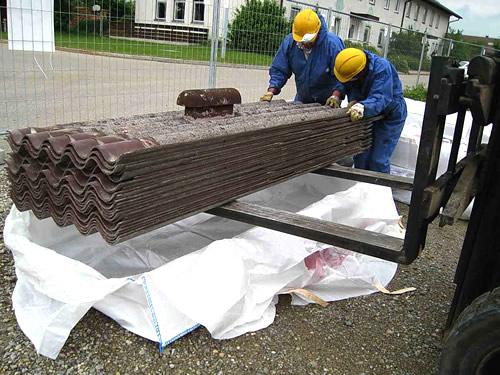 asbestsanierung asbest fachgerecht entsorgen. Black Bedroom Furniture Sets. Home Design Ideas
